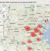 EMS Crash Map 2011