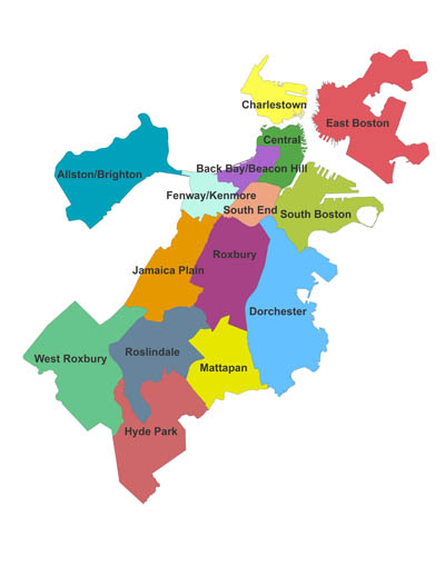 Map of neighborhoods