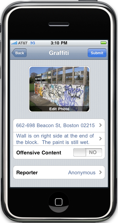 Citizens Connect iPhone App
