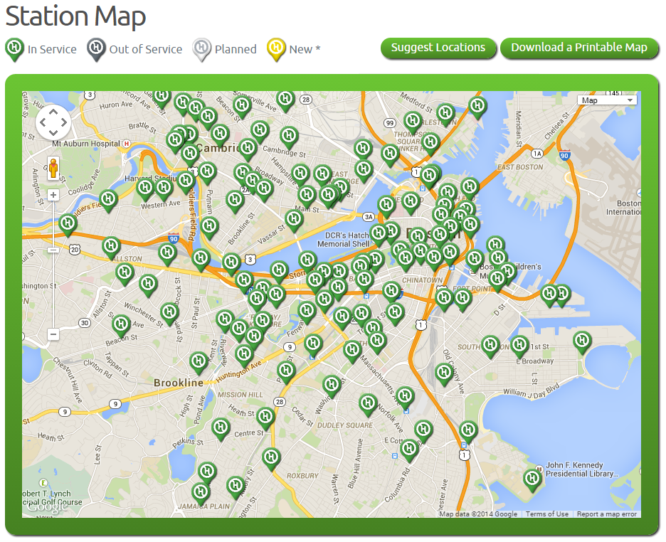 Hubway Station Map (440)