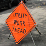 Utility Work Ahead Sign 150x150