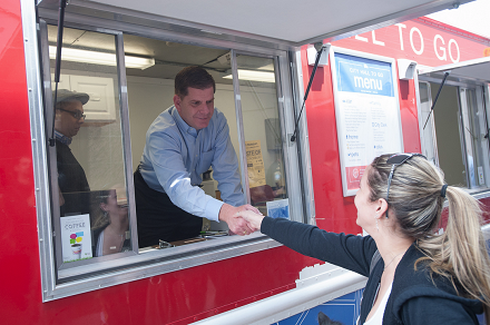 Mayor Walsh at the City Hall to Go Truck (440)