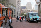 Two Food Trucks on City Hall Plaza
