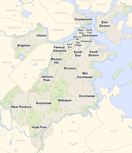 Map of Boston's Neighborhoods