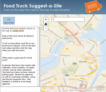 Suggest a Food Truck Location Map (440)