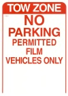 Temporary No Parking sign